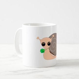 Lucky Snail - White Mug