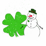 Lucky Snowman Photo Cut Outs