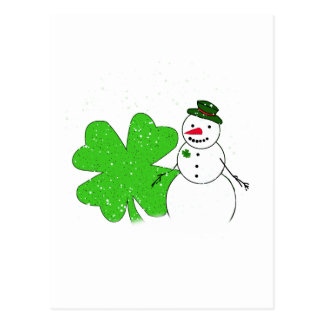 Lucky Snowman Postcards