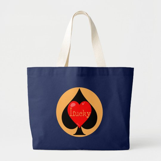 Lucky Spades Large Tote Bag