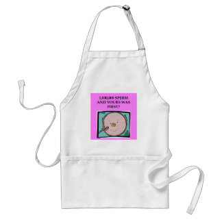 lucky sperm insult adult apron