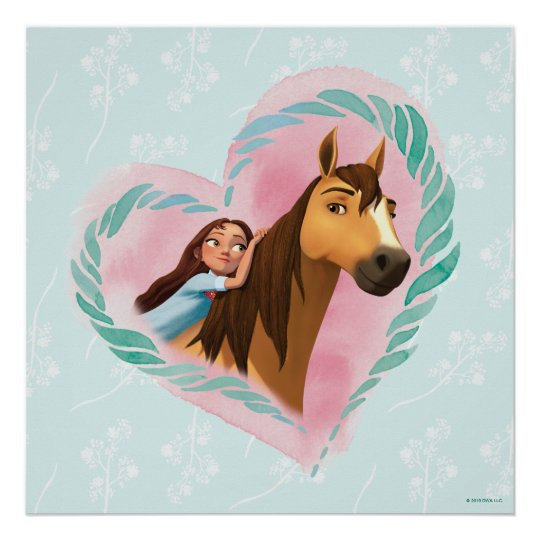 lucky  spirit watercolor heart poster  zazzle