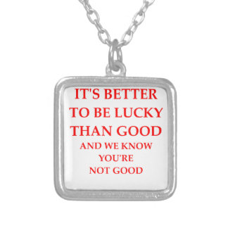LUCKY SQUARE PENDANT NECKLACE