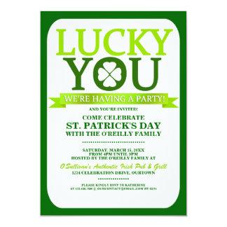 Lucky St. Patricks Day Party Invitations