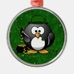 Lucky St Patrick's Day Penguin Christmas Ornament