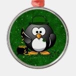 Lucky St Patrick's Day Penguin Christmas Ornament