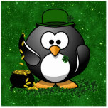 Lucky St Patrick's Day Penguin Cut Outs