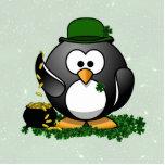 Lucky St Patrick's Day Penguin Photo Sculpture