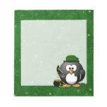 Lucky St Patrick's Day Penguin Scratch Pads