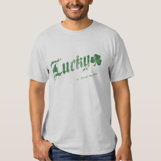 Lucky St. Patrick's Day T-shirt - Green Lettering