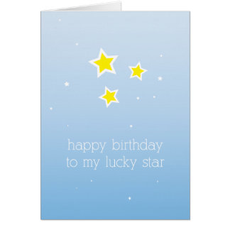 Lucky Star Birthday Card