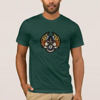 Lucky Star Flaming Gambling Illustration T-Shirt