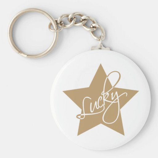 Lucky star key chain