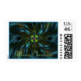 Lucky Star Merry Christmas Postage
