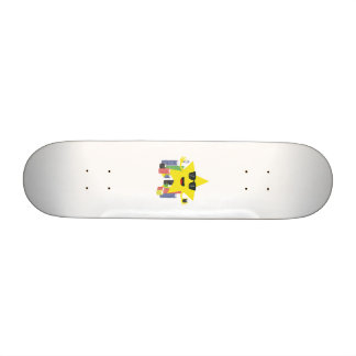 lucky star with poker chips skateboard