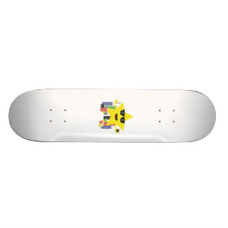 lucky star with poker chips skateboard deck