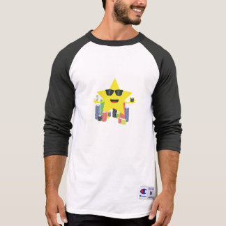 lucky star with poker chips tee shirt