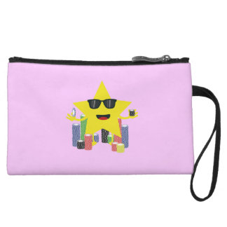lucky star with poker chips wristlet wallet