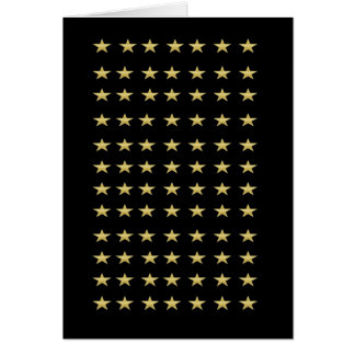 Lucky Stars Black With Gold Stars Design Card