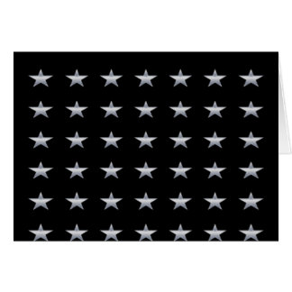 Lucky Stars Black With Silver Stars Design Card