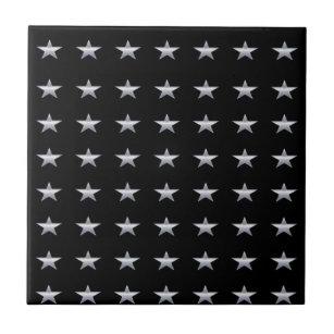 Black Star Design Decorative Ceramic Tiles Zazzle - Ceramic tile star designs