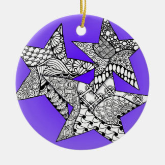 Lucky Stars Christmas Ornament with Your Name