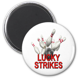 Lucky Strikes Bowling Refrigerator Magnet