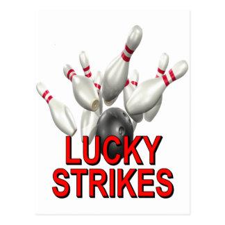 Lucky Strikes Bowling Postcard