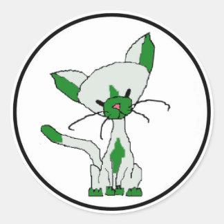 Lucky the Cat Sticker (Meet the Mews)