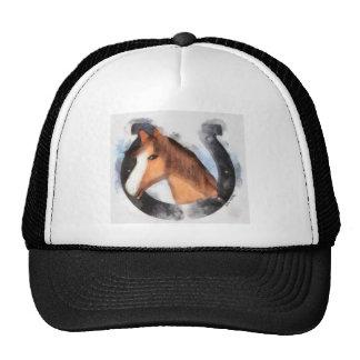 Lucky the Horse Trucker Hats