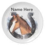 Lucky the Horse Plate