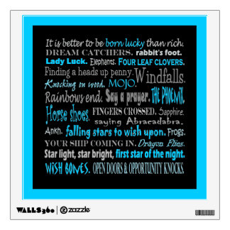 lucky things wall art wall decal