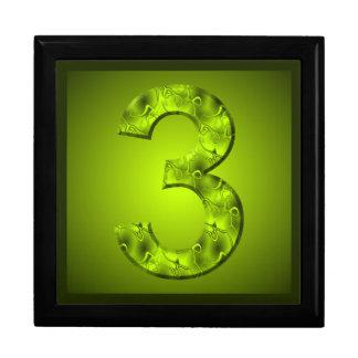 Lucky Three Gift Jewelry Box Green
