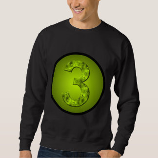 Lucky Three Magic Circle Power Number Green Sweatshirt
