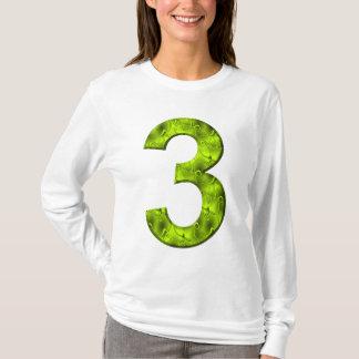 Lucky Three Nature Magic Green Power Number T-Shirt