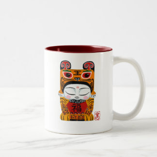 lucky-tiger-baby Two-Tone coffee mug