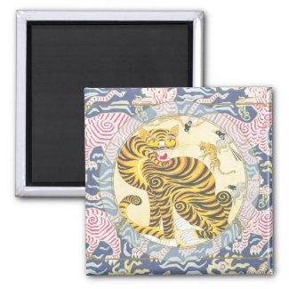 Lucky Tiger | Zodiac magnet