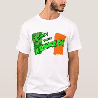 Lucky to be a Kennedy Irish Shamrock T-Shirt
