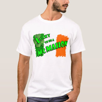 Lucky to be a McMahon Irish Shamrock T-Shirt