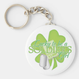 lucky to be a soldiers girl key chain