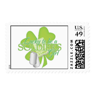 lucky to be a soldiers girl postage stamps