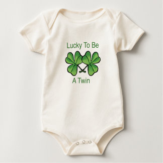 Lucky To Be A Twin Baby Bodysuit