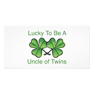 Lucky To Be A Uncle Of Twins Picture Card