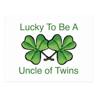 Lucky To Be A Uncle Of Twins Postcard