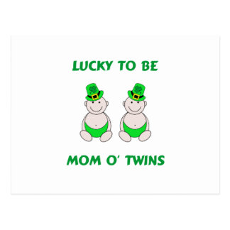 Lucky To Be Mom O' Twins Postcard