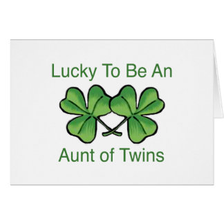 Lucky To Be Twin Aunt Card