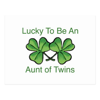 Lucky To Be Twin Aunt Postcard