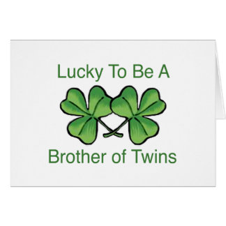Lucky To Be Twin Brother Card