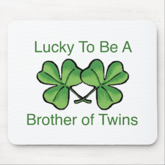 Lucky To Be Twin Brother Mouse Pad