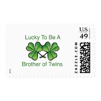 Lucky To Be Twin Brother Postage